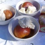 Oven Roasted Peaches with Honey
