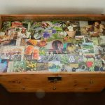 Decoupage Upcycles an Old Trunk