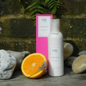 Lavender and orange body lotion katie craig