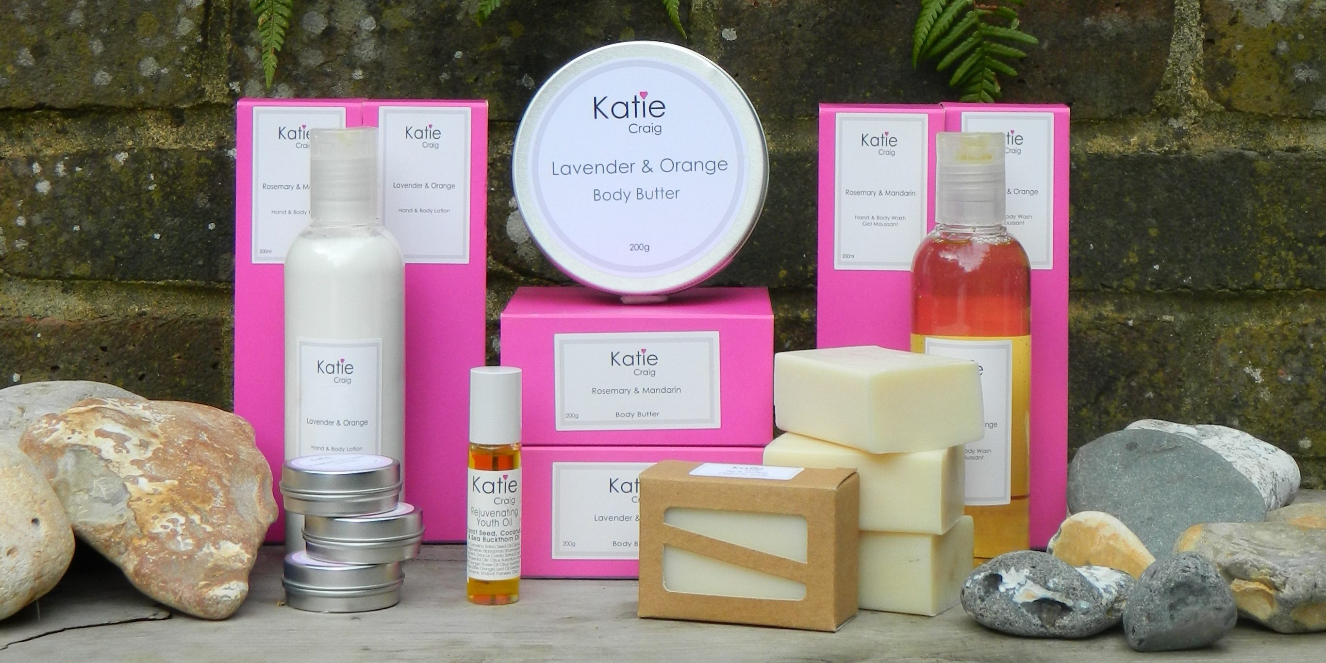 Organic Beauty products from Katie Craig