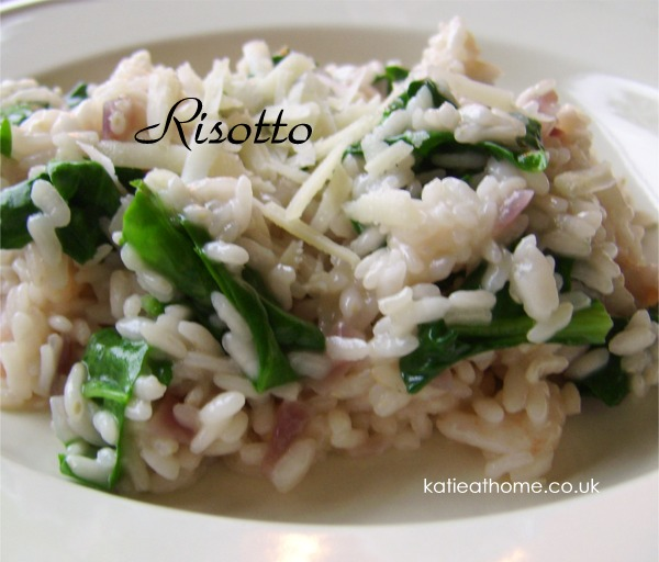 Something for the weekend - Katie's Easy Risotto with Prawns and Spinach