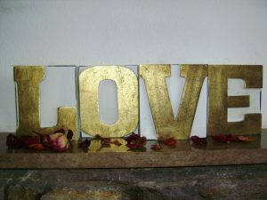 Love wooden letters