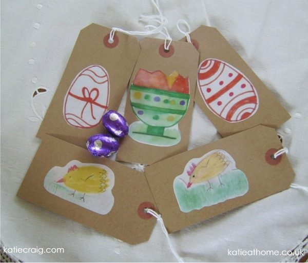 How to Make Easter Gift Tags