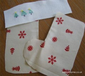 How to make a Christmas stocking by Katie Craig